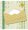 Greeting card with envelope vector