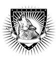 Wolf shield vector