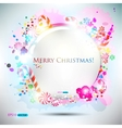 Elegant christma speech bubble vector