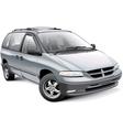 American family minivan vector