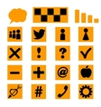 Set of icons templates for a site vector