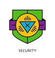 Simple shields badges design logo template vector