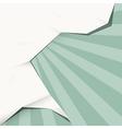 Retro green paper background vector
