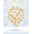 Christmas bokeh poster with tree eps 10 vector