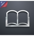 Open book icon symbol 3d style trendy modern vector