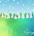Spring geometric background vector