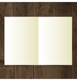 Blank magazine on the wooden table vector
