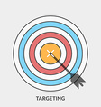 Flat design concept for targeting for web b vector