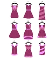 Set of female dresses vector