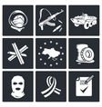 Opposition icon set vector