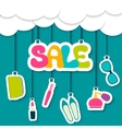 Sale label in the clouds vector