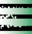 Black grunge strips 4 vector