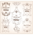 Elegant restaurant labels vector