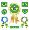 Brazil flags vector