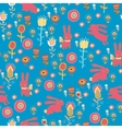 Bright cartoon pattern with animals vector