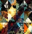 Grunge geometric pattern vector