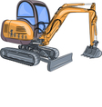 Mini excavator v vector