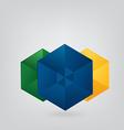 Geometric brazil background vector