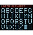 Latin alphabet blue matrix indicator vector