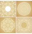 Set of 4 round lace ornamental backgrounds vector