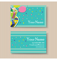 Business card with birthday cake vector