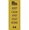 Rome travel card vector