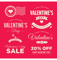 Valentines day set labels vector