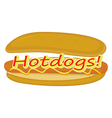 A hotdog label vector