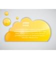 Speech bubble cloud vector