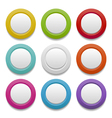 Plastic buttons vector
