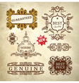 Luxury premium quality and guarantee label vector