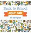 Doodle back to school super sale poster vector