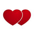 Love heart couple vector