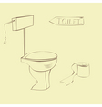illustration of toilet vector