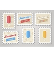 Summer stamps ice creame vector