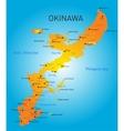 Okinawa map vector