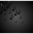 Abstract black music background vector