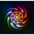 Abstract rainbow neoncosmic spiral background vector
