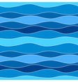 Sea waves abstract seamless pattern background vector