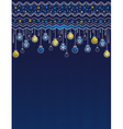 Blue card with christmas balls vector