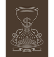 Hourglass sand clock with time is money concept vector