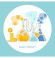 Make money concept vector
