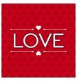 Lettering design word love vector