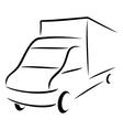 Road transport symbol vector