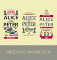 Set of wedding stamps invitations vector