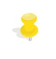 Yellow pin vector