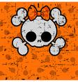 Cute halloween skull vector