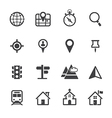 Map icons and location icons vector
