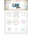 Vintage abstract line shapes set for decorations vector