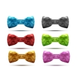 Set of colorful abstract fashion bow tie in vector